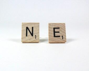 Scrabble Tile Cufflinks - Nebraska