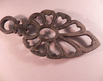 Vintage Rest Trivet Cast Iron