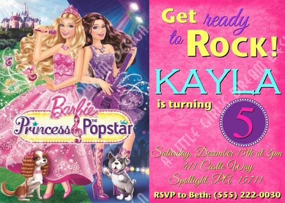 Items similar to Barbie Princess and the Popstar Custom