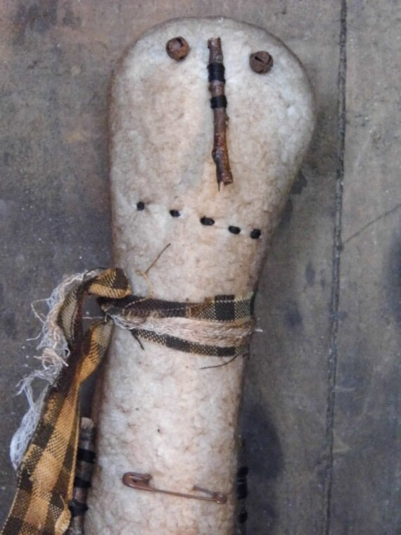 Skinny Tall Snowman on Antique Bobbin