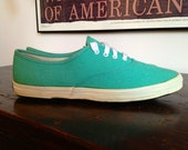 Reserved Vintage Keds Oxford Hospital Green with Black Sole Wm Size 8 c.1960s