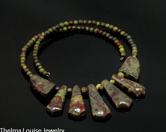 Dragon Blood Jasper Necklace