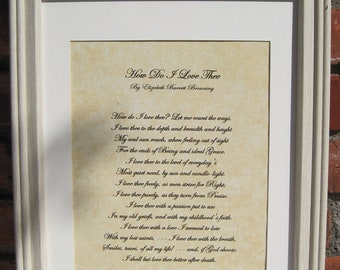 Wedding Poem How Do I Love Thee Wedding Poem On Parchment Wall Decor Wall Art How Do I Love