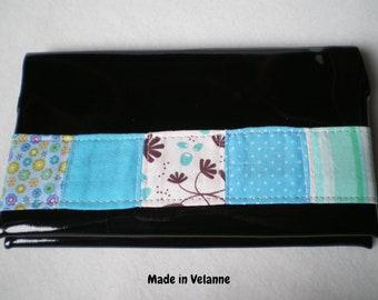 BALANCES {-30%} black patchwork checkbook blue