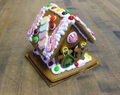 MEDIUM Christmas Gingerbread House / Entirely Edible /Holiday Gift Colorful Decoration / Stocking Stuffer / Boy Girl Tree Cookies / Party