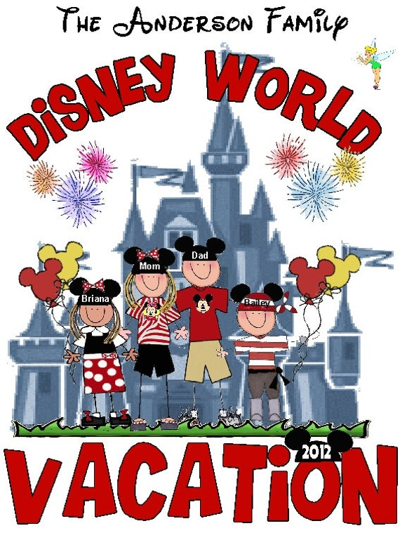 Disney vacation t shirt package 2 adult sizes and 2 youth sizes
