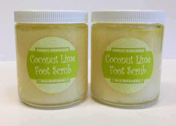 Coconut Lime Foot Salt Scrub - Made in Napa Valley