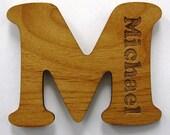 CUSTOM Wood Fridge Magnet Letter with Name