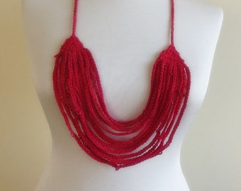 hand crochet collar necklace, scarf nr.72