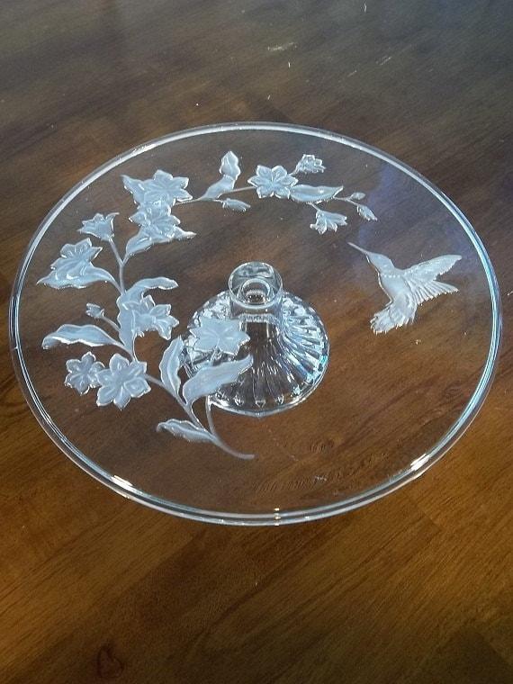 Items similar to Vintage Avon Hummingbird Leaded Crystal ...