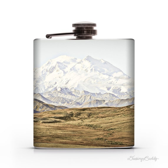 Alaskan Mountains - 6oz Whiskey Hip Flask