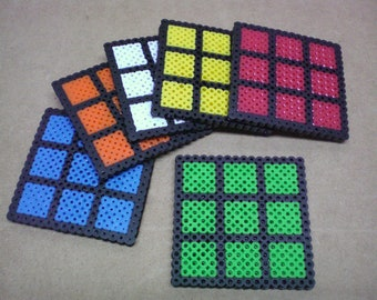 Solved Rubik's Cube drink coasters