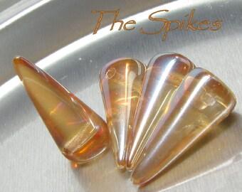 7X17mm Celsian Czech Glass Spikes (00030-22501)
