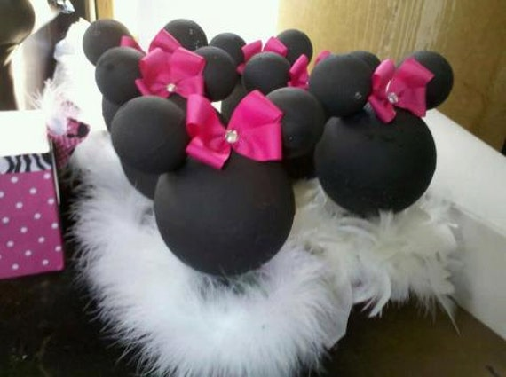 Items similar to minnie mouse birthday centerpieces pink