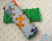 Autism Awareness Puzzle Piece Minky Car Seat Strap Covers