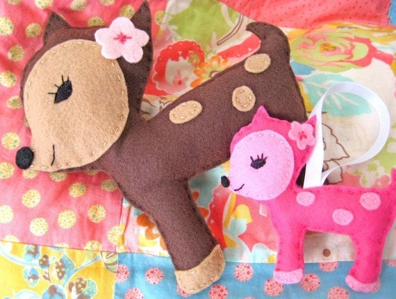 Felt Pattern - Dottie Deer Felt Plushie and Ornament - PDF Pattern - Instant Download