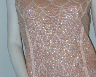 Pink Sequin Party Top