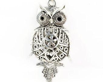 Scarf pendant,necklace pendant,rich owl pendants accessories,Length 5.5cm, width 2.8cm, PT-400