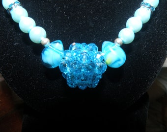 Blue Ice Swarovski Necklace and Earring Set