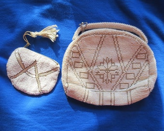 Vintage 1920 beaded purse with extra coin purse