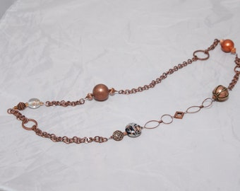 Long Copper Necklace