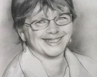 Custom Portrait Pencil Drawing