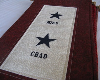 2-Star Service Flag with Customized Names Embroidered