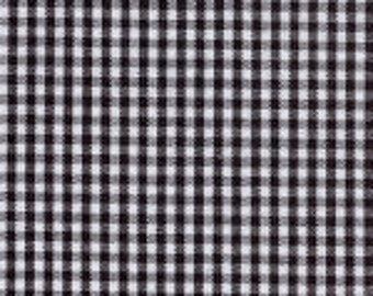 "HALF YARD 1/16"" BLACK Fabric Finders Gingham"