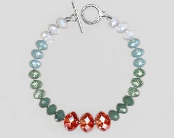 Sterling Silver Bracelet  with Swarovski Briolette Beads