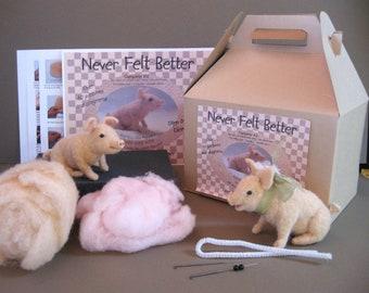 Piggy Needle Felting Kit
