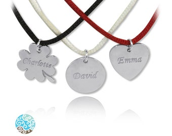 Personalized Necklace Sterling Silver Individually Engraved Necklace