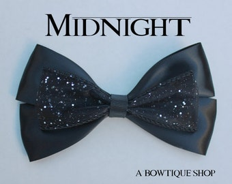 midnight hair bow