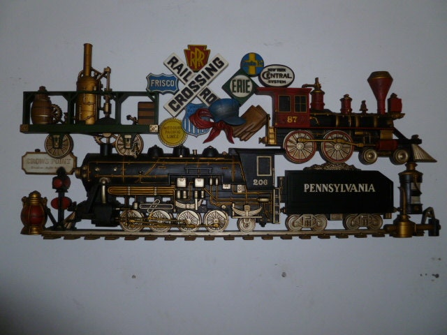 1973 Burwood Products 43 Long Train Wall Hanging