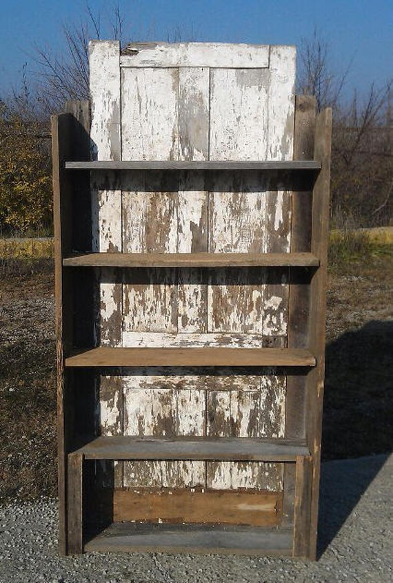 Beautiful Antique Century Furniture Dining Room Table And: Beautiful 1800's Reclaimed Barn Shelf With Primitive