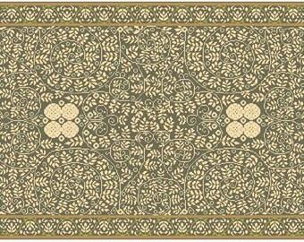 Challenge!-- Miniature Petit Point Carpet Pattern for Dollhouse (1920 Viennese)