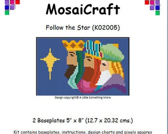 MosaiCraft Pixel Craft Mosaic Art Kit 'Follow the Star' (Like Mini Mosaic and Paint by Numbers)