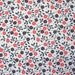 Vintage Cotton Fabric 1960s Tiny Floral Print Red Black By the Yard