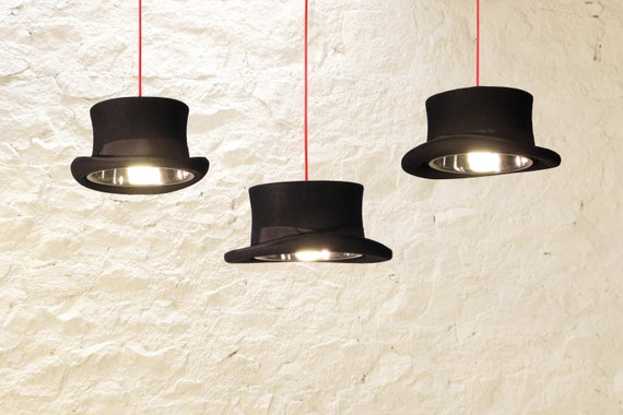 The prince edward top hat light by mrjdesignsco on etsy for Quirky home decor uk