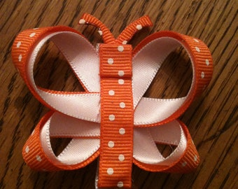 Butterfly Hair Clip (Orange)
