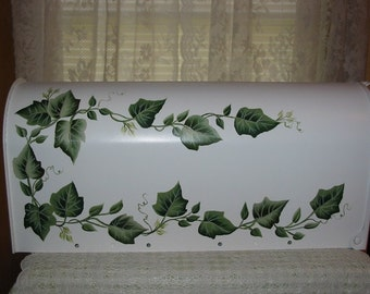 Hand Painted Mailbox with Ivy