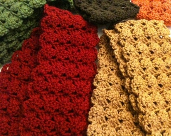 Autumn Colors Crochet Infinity Scarf