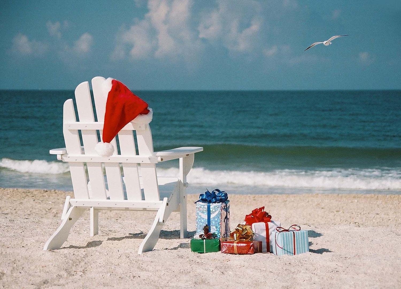 Coastal christmas photo cards