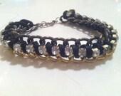 Rhinestone Chain Bracelet