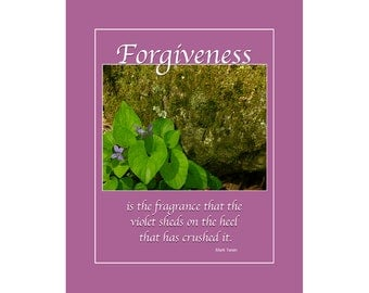 Forgiveness Mark Twain Inspirational Quote Color Photo
