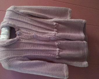 Toddler's Silk/Bamboo Handknit sweater-jacket