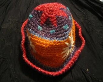 Hippie Hand Crocheted Hat