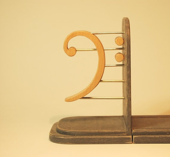 Music bookends - Treble clef bookends ...
