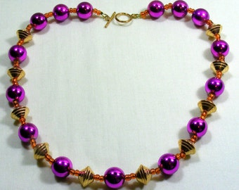 Copper and Purple Necklace
