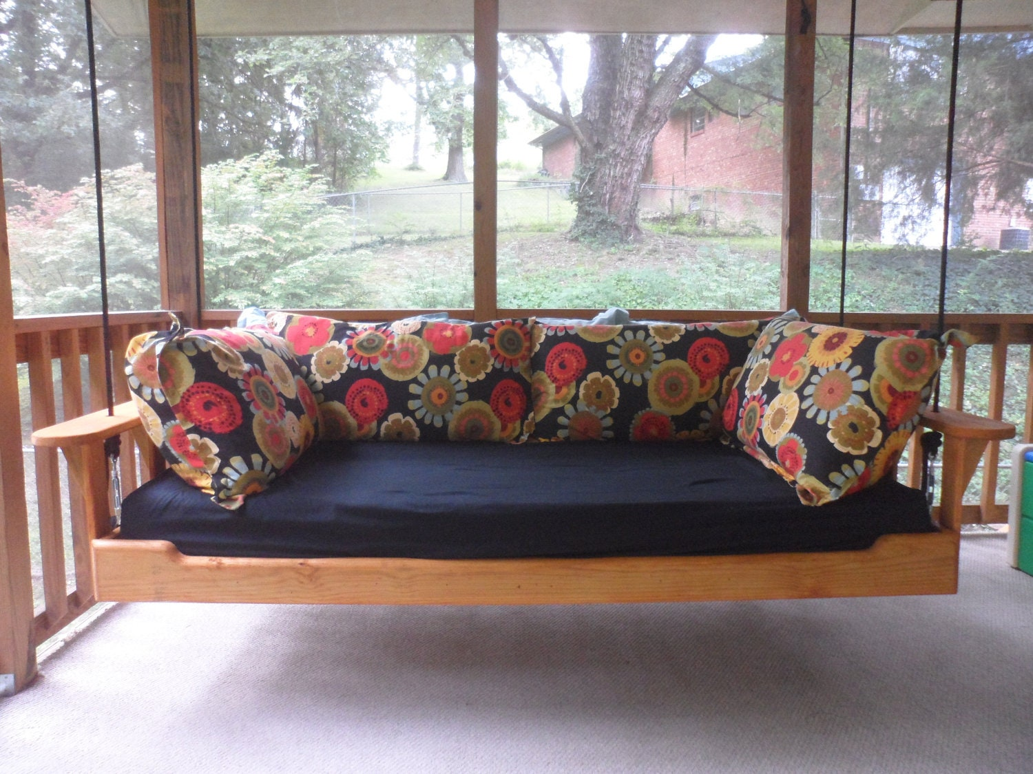items similar to hanging porch bed swing on etsy. Black Bedroom Furniture Sets. Home Design Ideas