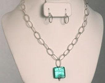 Venetian Glass & Sterling Silver Jewelry Set